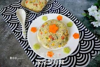 原味蛋炒饭的做法步骤:10