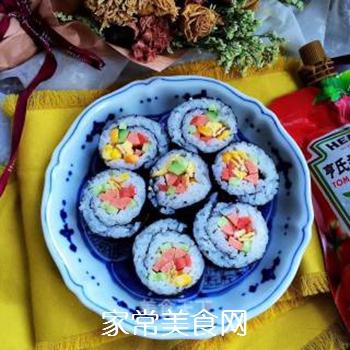 什锦紫菜包饭的做法步骤:10
