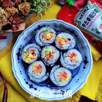 什锦紫菜包饭的做法步骤:11