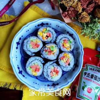 什锦紫菜包饭的做法步骤:12