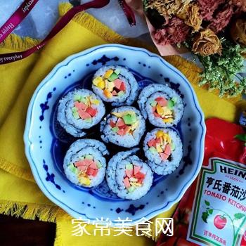 什锦紫菜包饭的做法