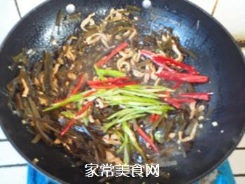蚝油肉丝海带的做法步骤:10