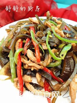 蚝油肉丝海带的做法