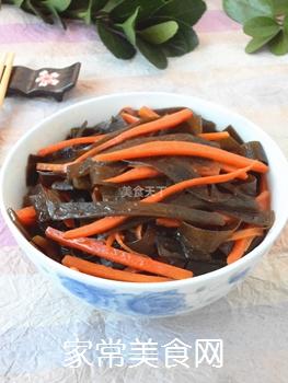 胡萝卜烧海带的做法