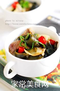 五花肉酥海带的做法