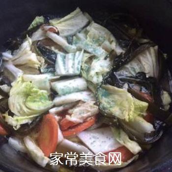 白菜海带素锅的做法步骤:6