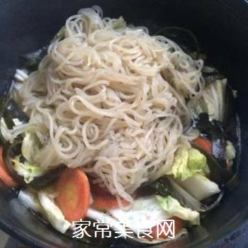 白菜海带素锅的做法步骤:7