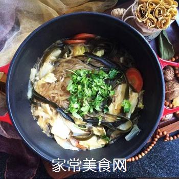 白菜海带素锅的做法
