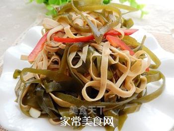 拌豆腐皮海带丝的做法步骤:10