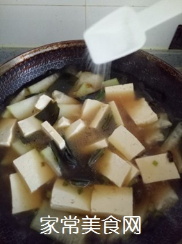 冬瓜海带炖豆腐的做法步骤:12