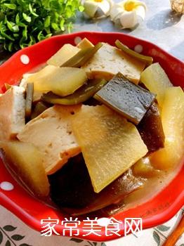 冬瓜海带炖豆腐的做法步骤:14