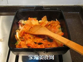 韩风辣味豚肉锅的做法步骤:11