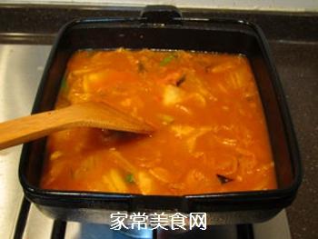 韩风辣味豚肉锅的做法步骤:14