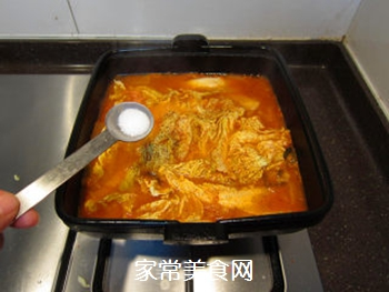 韩风辣味豚肉锅的做法步骤:16