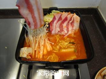 韩风辣味豚肉锅的做法步骤:17