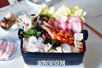 韩风辣味豚肉锅的做法步骤:19