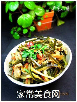 黄豆酱炒海带白菜丝的做法