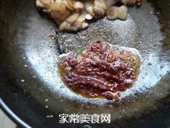 香干回锅肉的做法步骤:7