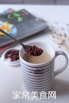 自制港式红豆奶茶(豆浆机板)的做法步骤:8