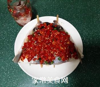 剁椒鱼头的做法步骤:6