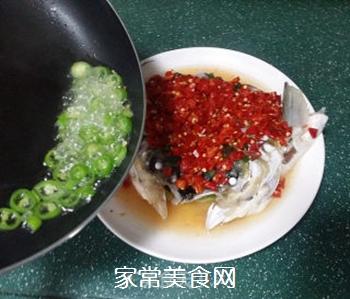剁椒鱼头的做法步骤:11