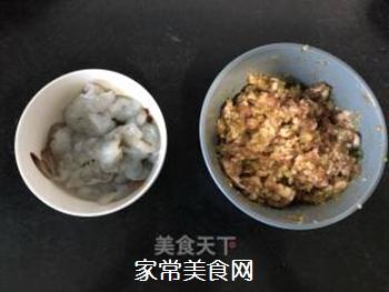 #花样美食#―虾仁蛋包饺的做法步骤:4