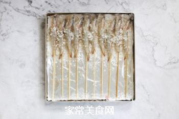 海盐烤海虾的做法步骤:4