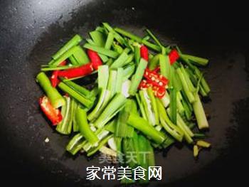辣韭炒虾仁的做法步骤:8
