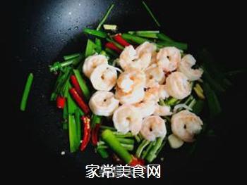 辣韭炒虾仁的做法步骤:9