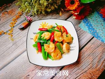 辣韭炒虾仁的做法