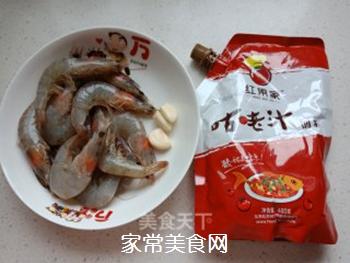 快手菜咕�K大虾,色香味俱全!的做法步骤:1