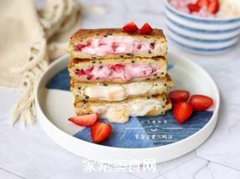 草莓芒果三明治的做法步骤:11