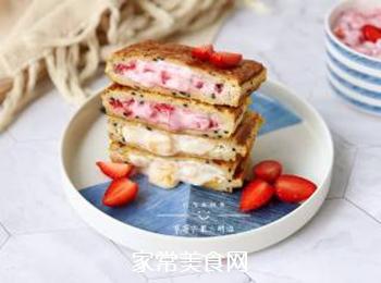 草莓芒果三明治的做法步骤:12