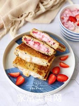 草莓芒果三明治的做法步骤:14