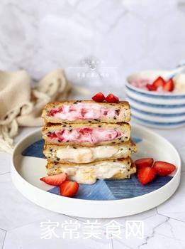 草莓芒果三明治的做法