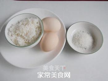 方便快捷―米饭鸡蛋饼的做法步骤:1