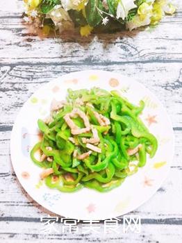 青椒肉丝的做法步骤:8
