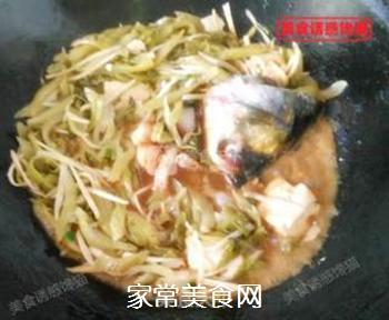 酸菜豆腐鱼的做法步骤:5