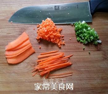 香葱胡萝卜鸡蛋饼的做法步骤:2