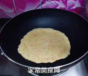香葱胡萝卜鸡蛋饼的做法步骤:7