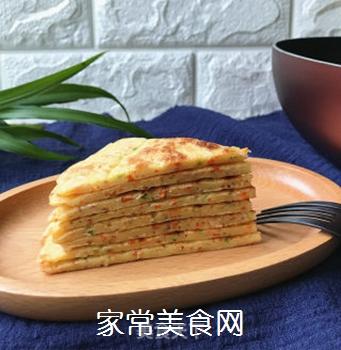 香葱胡萝卜鸡蛋饼的做法步骤:10