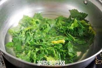 蒜香芹菜叶的做法步骤:3
