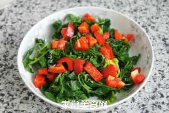 蒜香芹菜叶的做法步骤:6