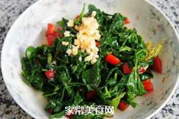 蒜香芹菜叶的做法步骤:7