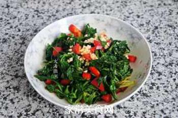 蒜香芹菜叶的做法步骤:8