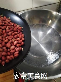 萝卜皮拌花生的做法步骤:3