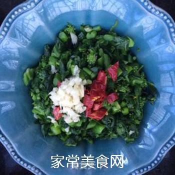 响油菜芯的做法步骤:5