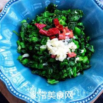 响油菜芯的做法步骤:6