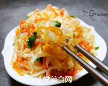 白菜心拌蜇皮的做法步骤:9