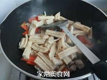 芹菜木耳炒腐竹的做法步骤:9